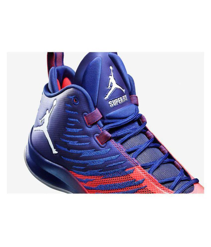 b929b2451a1 Nike Jordan Super Fly 5 Blue Orange Midankle Male Blue: Buy Online ...
