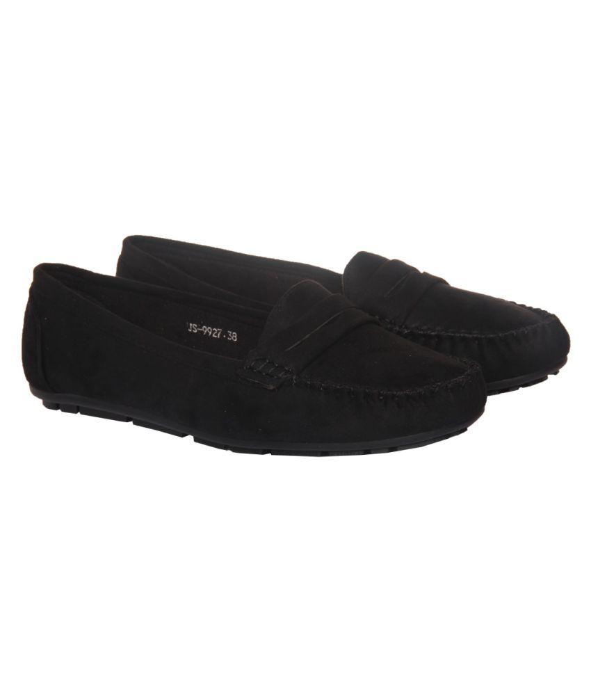Flat N Heels Black Casual Shoes
