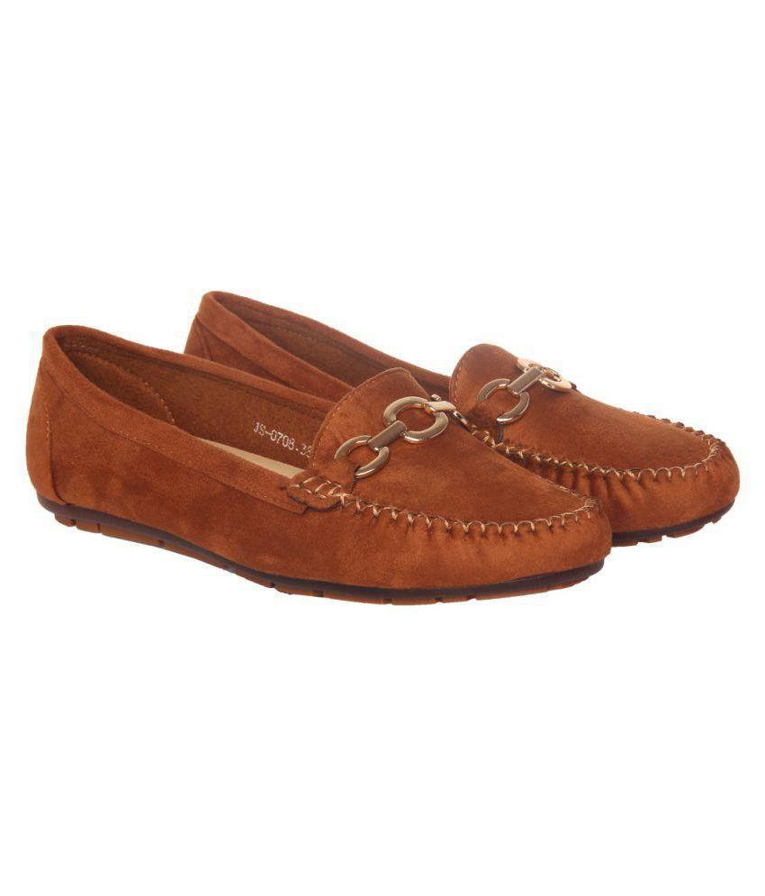 Flat N Heels Tan Casual Shoes