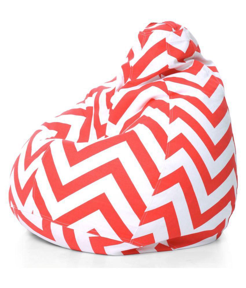 Phenomenal Style Homez Classic Cotton Canvas Stripes Printed Bean Bag Xl Size Cover Only Machost Co Dining Chair Design Ideas Machostcouk