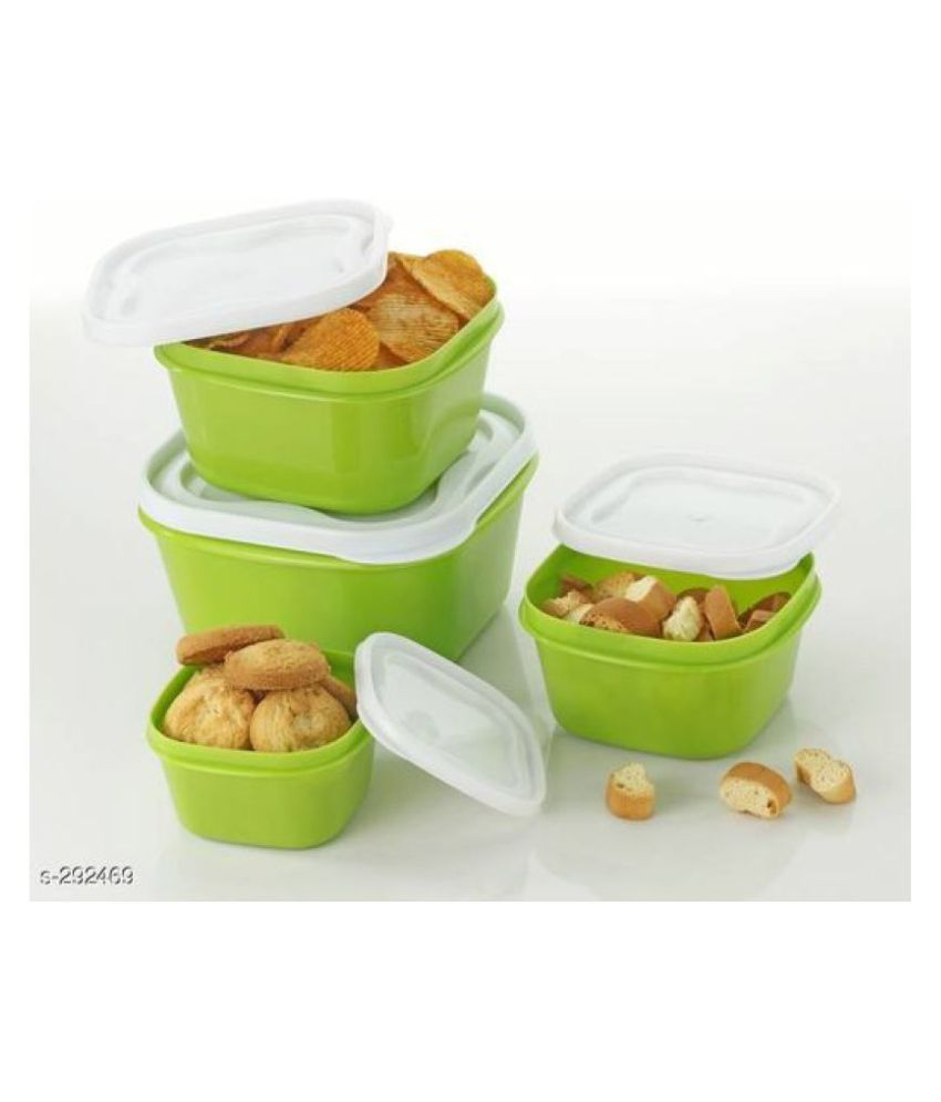 analog kichenware light green food container set 4 pic Polyproplene Food Container Set of 4