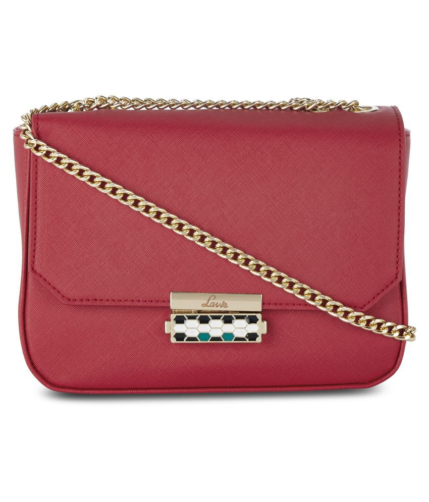 Lavie Red P.U. Sling Bag