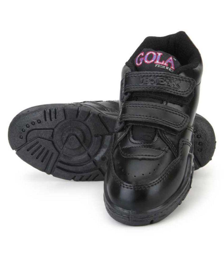 Buy Rex Gola Black Velcro School Shoes
