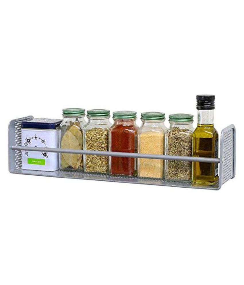 Stainless Steel Wall Shelf (Number of Shelves - 1, Silver)16.75 L x 4 H x 4.25 D.