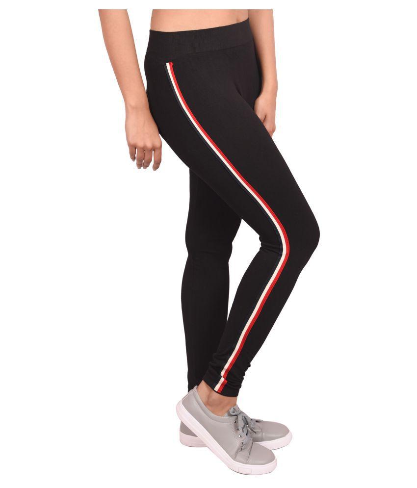 ba282e81ebe44d Ziva Fashion Girls Black Poly Cotton, Side Patti Pattern Full Length Slim  Fit Leggings/Jeggings - Buy Ziva Fashion Girls Black Poly Cotton, ...