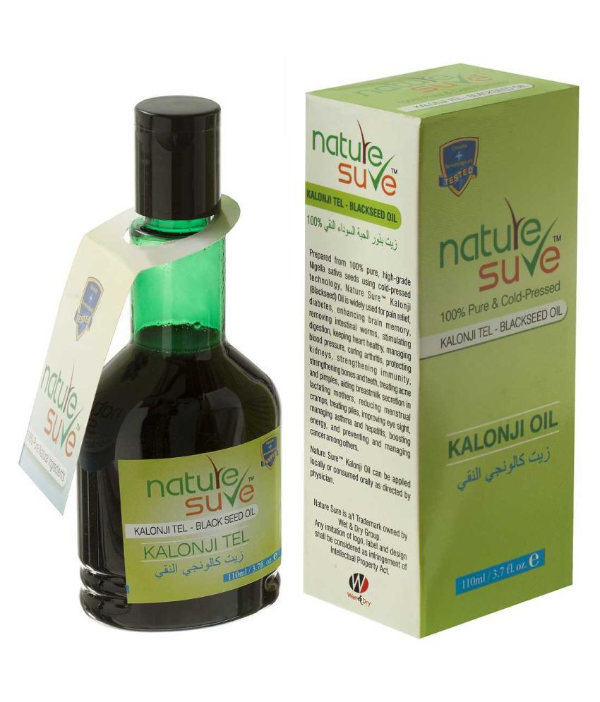 Nature Sure Kalonji Tail Black Seed Oil Extracted From 100% Pure Nigella sativa Seeds - 1 Pack (110ml)