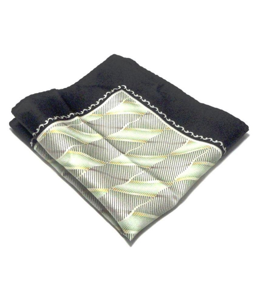 Voici France Golden Black Pocket Square, Microfiber, small size