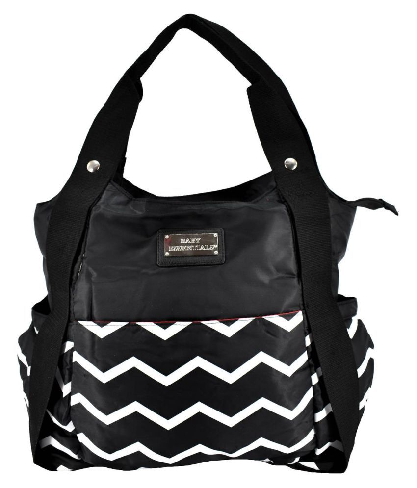 Baby Essentlals Mother Bag with Diaper Changing Mat   Black