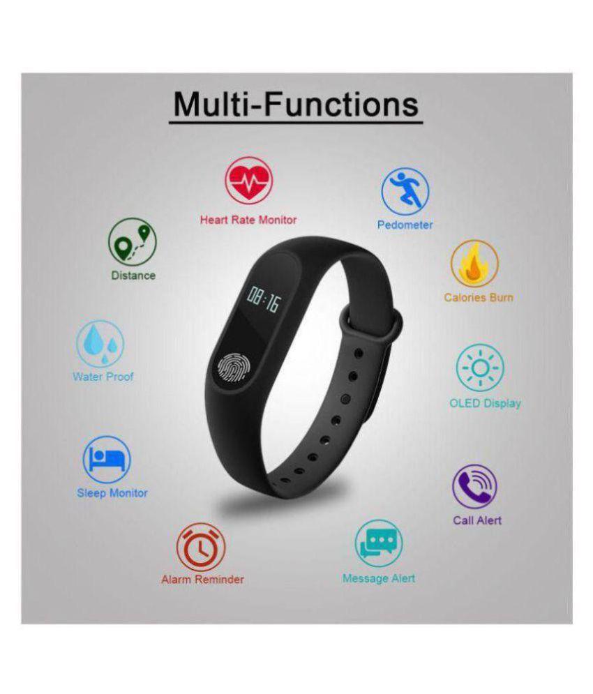 Jibronics M2 Smart-Band, Fitness Band, Smart Watch with Heart Rate Monitor