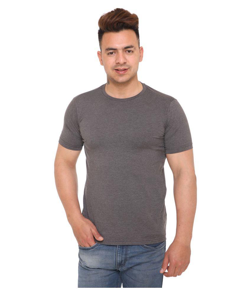 Raves Grey Half Sleeve T-Shirt Pack of 1