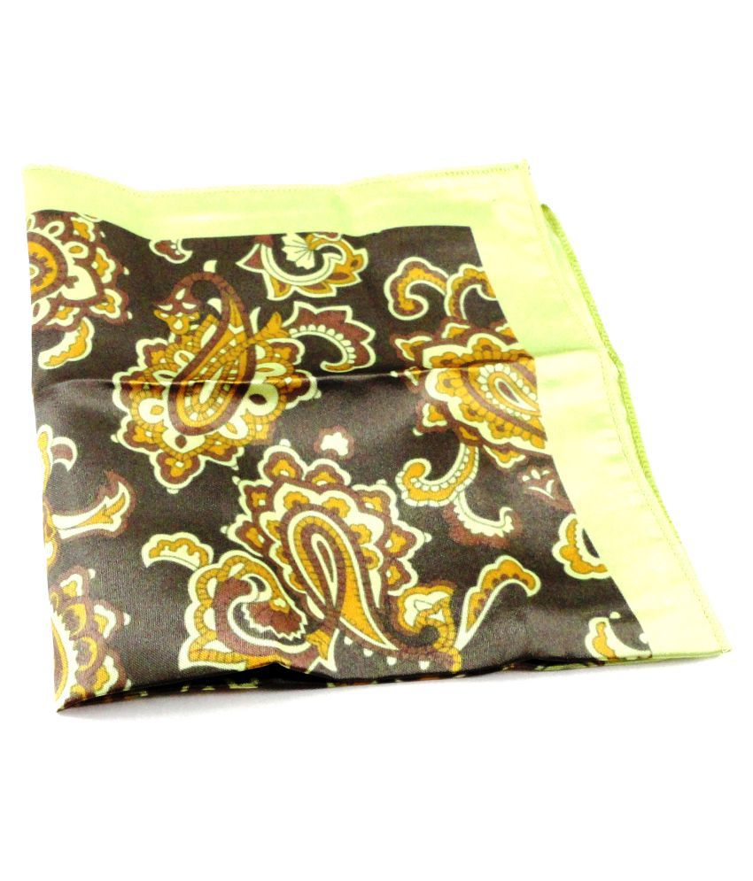 New Men/'s Yellow Gold Micro Fiber Solid Handkerchief Pocket Square Hanky Wedding