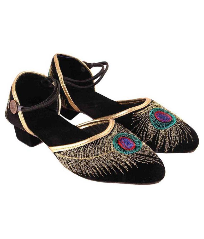 Kesar Designs Black Wedges Heels