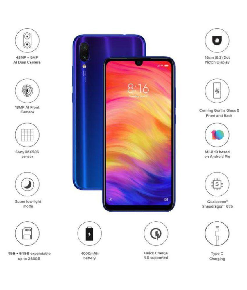 Xiaomi Note 7 Pro ( 64GB , 4 GB ) Blue