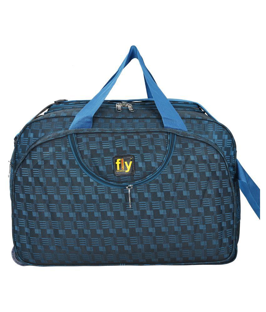 Fly Fashion Blue Solid Duffle Bag