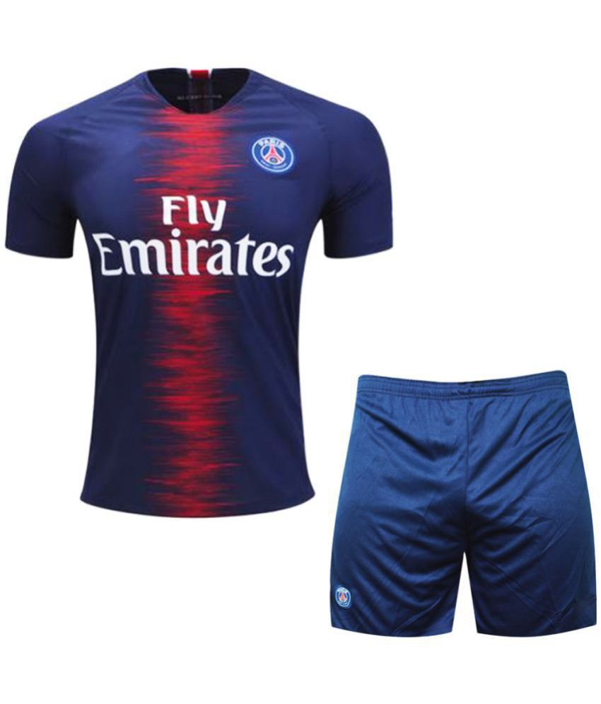 8b8420174ab Kids PSG Football Team Dry Fit Polyester Half Sleeve Jersey With Short -  Buy Kids PSG Football Team Dry Fit Polyester Half Sleeve Jersey With Short  Online ...