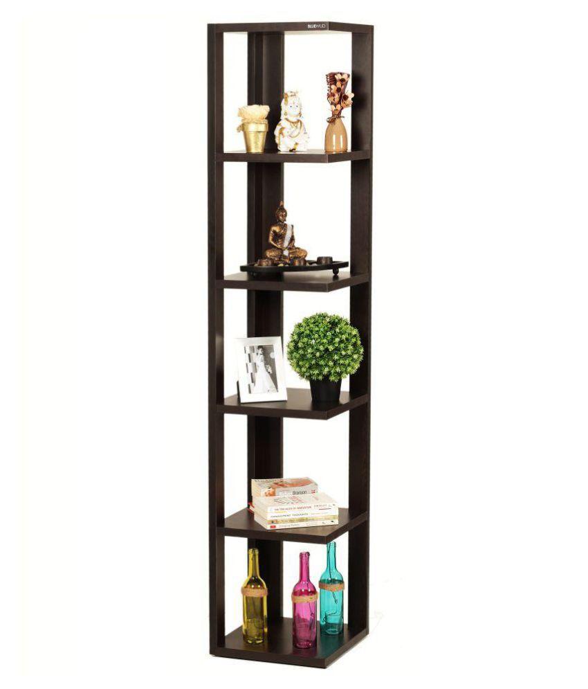 Bluewud Albert Floor Standing Corner Wall Shelf/Display Rack (6 Shelves)