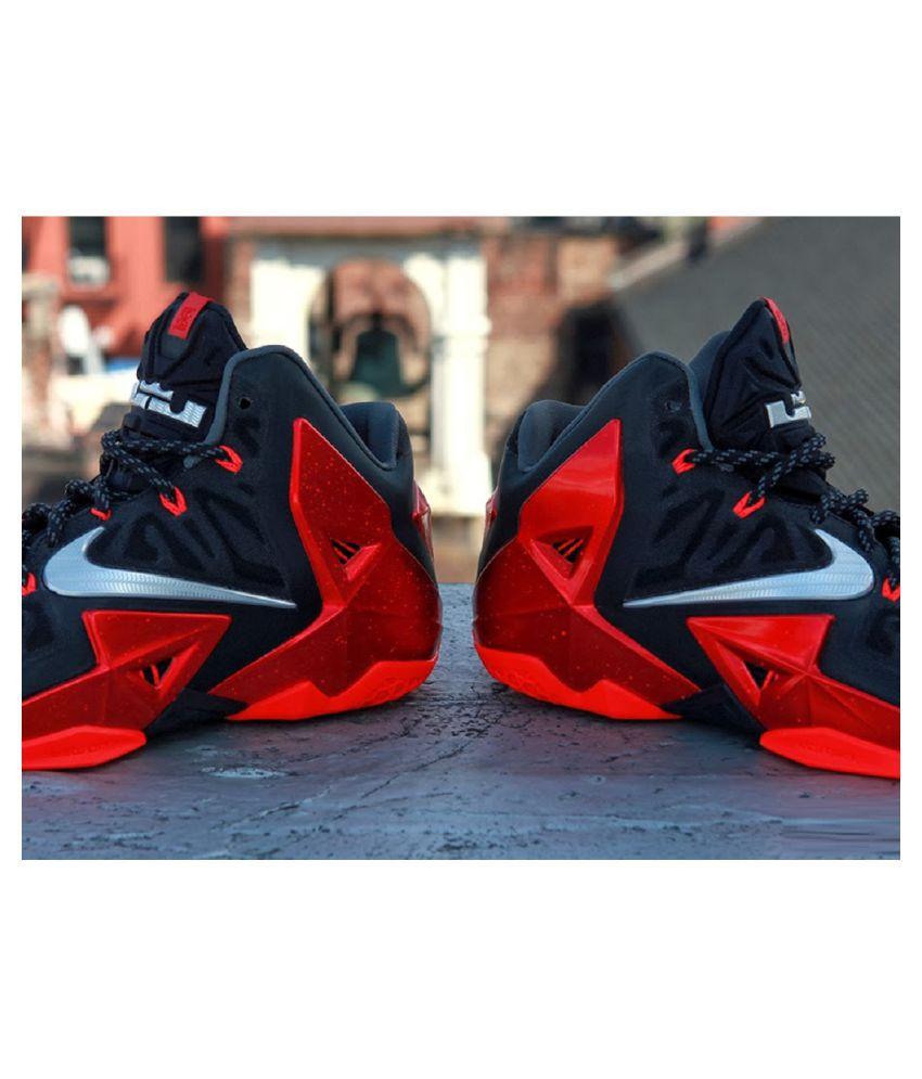 best service e1361 d4331 ... Nike LeBron 11 Miami Heat Black Running Shoes ...