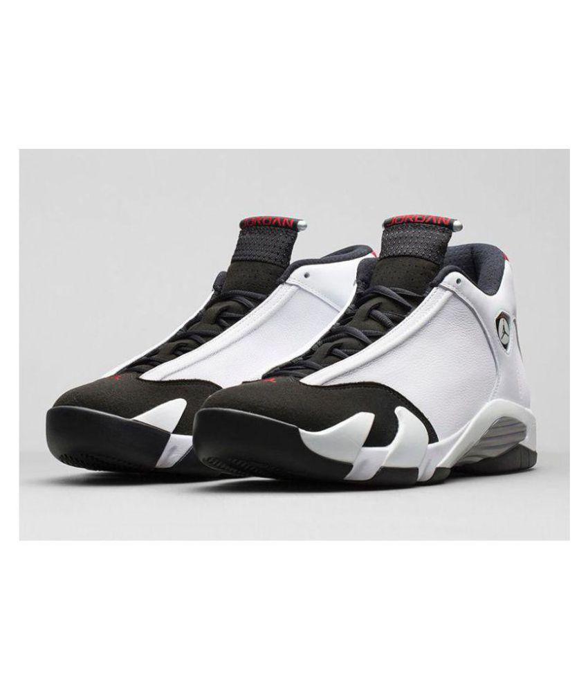 new style 62b36 423f8 Nike Air Jordan 14 Ferrari White Black Midankle Male White  Buy Online at  Best Price on Snapdeal