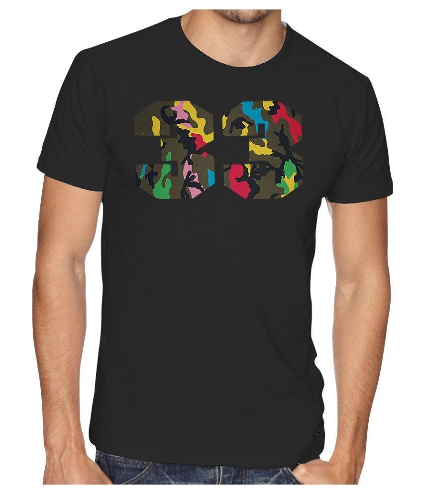 Casotec Black Half Sleeve T-Shirt Pack of 1