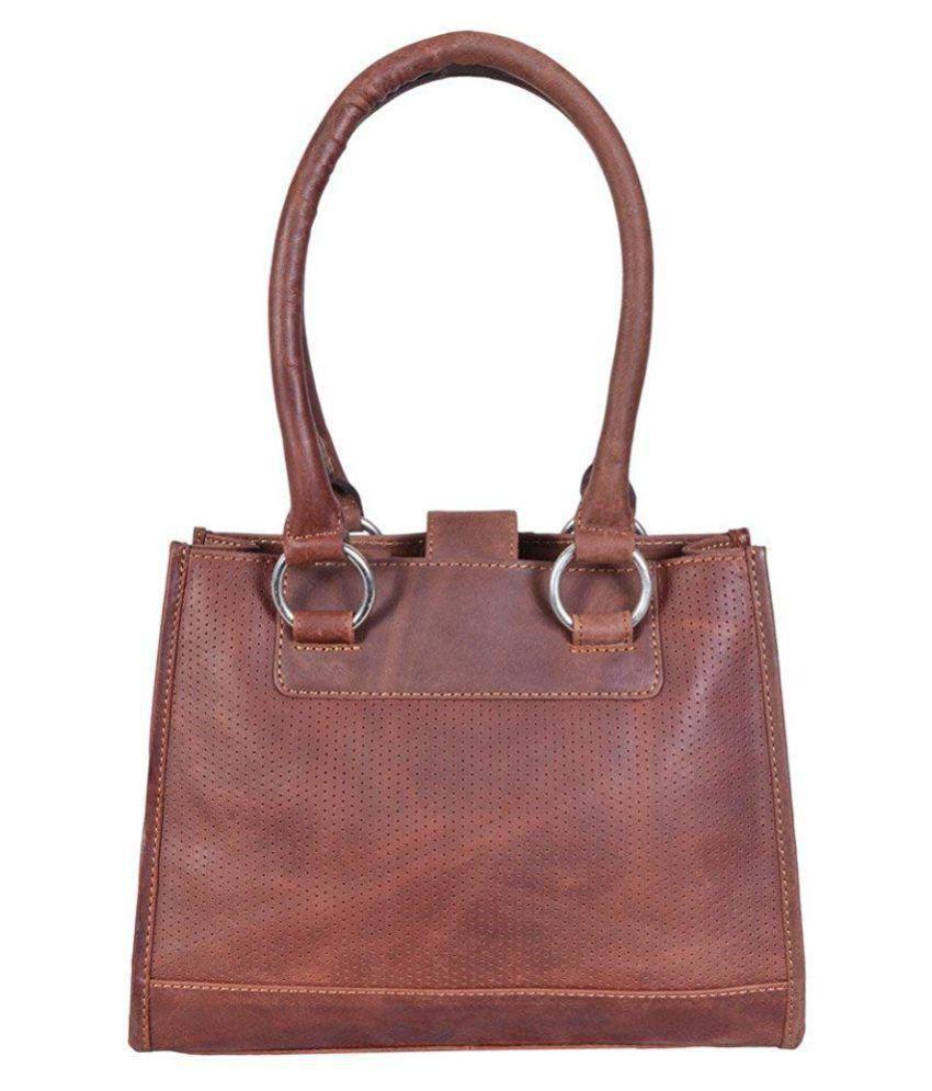 RSI Brown Pure Leather Shoulder Bag