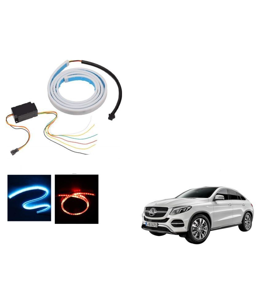 Auto Addict LED Dicky Light Ice Blue & Red DRL Brake with Side Turn Signal & Parking Indication Dicky, Trunk, Boot Strip Light For Mercedes Benz NA
