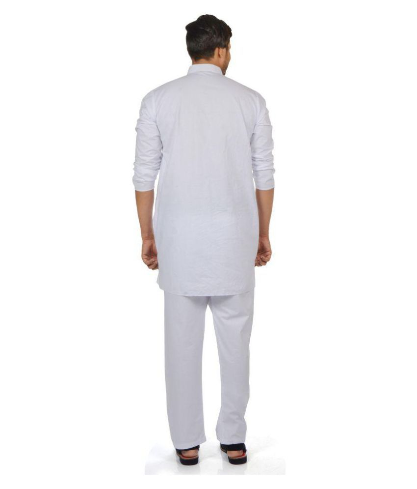 6ed0520e14 S9 Men White Cotton Kurta Pyjama Set Pack of 2 - Buy S9 Men White ...