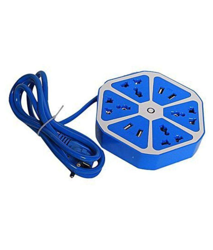 4 USB Hexagon Socket Extension Board 4 USB Port with 4 Socket Surge Protector