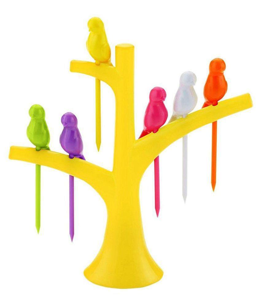 Seahawks Birdie Plastic Fruit Fork Set (Pack of 7): Buy ...