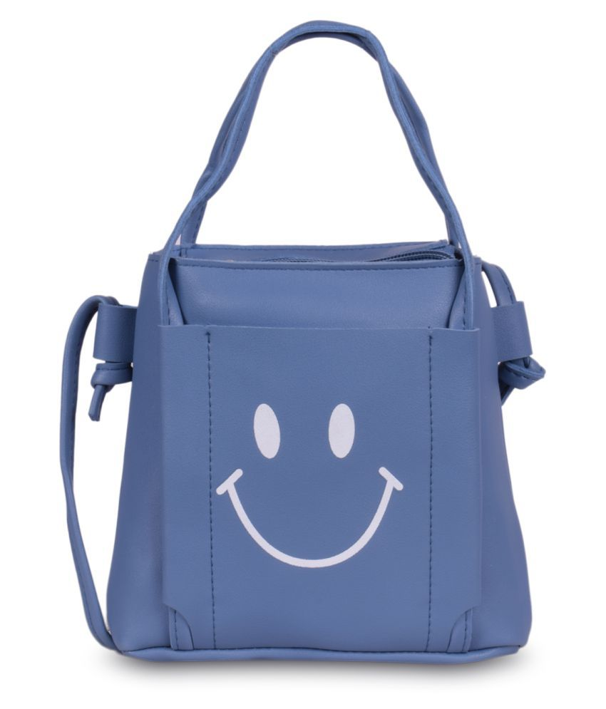 Bagkok Blue P.U. Sling Bag
