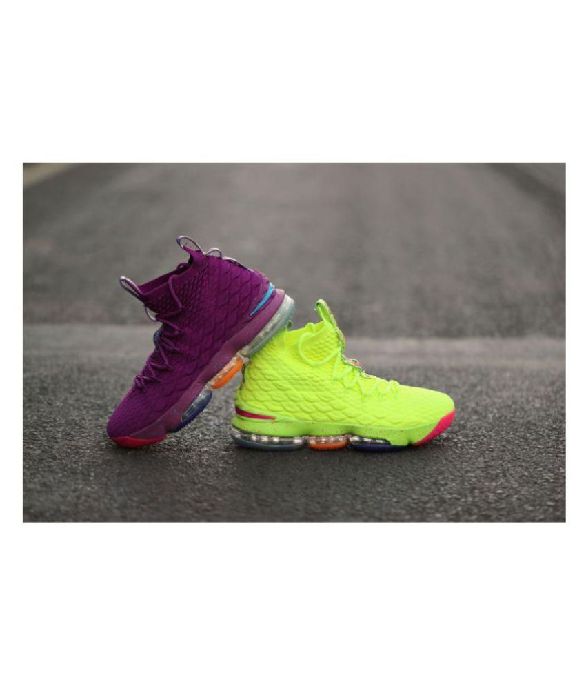 san francisco 261b0 6af4b Nike LeBron 15 XV EP Mandarin Duck Midankle Male Assorted