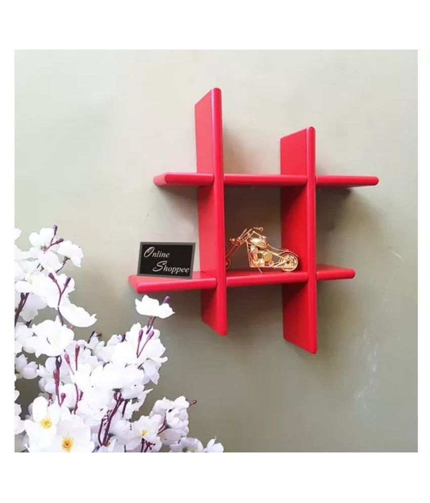 Onlineshoppee Beautiful MDF Fancy Wall Decor Rack Shelves