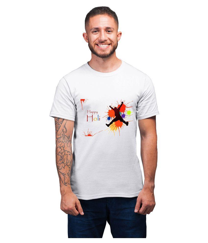 Ritzees White Half Sleeve T-Shirt Pack of 1