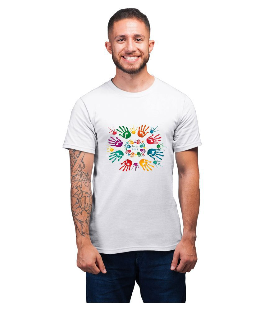Ritzees White Half Sleeve T-Shirt Pack of 1