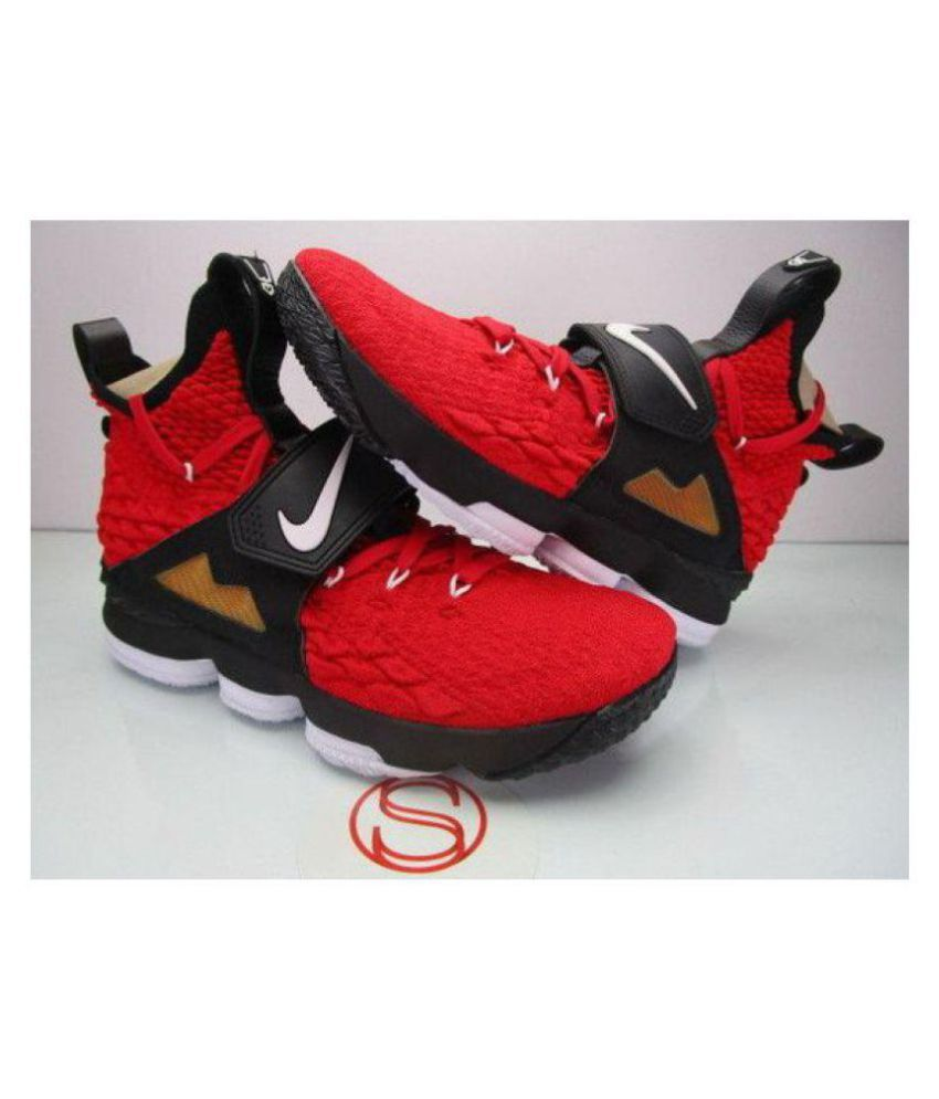 save off 243c9 42d49 Nike LEBRON 15 DIAMOND TURF Red Basketball Shoes - Buy Nike LEBRON 15  DIAMOND TURF Red Basketball Shoes Online at Best Prices in India on Snapdeal
