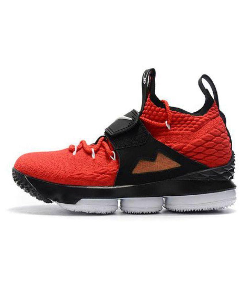 buy online f7ac7 0435e Nike LEBRON 15 DIAMOND TURF Red Basketball Shoes