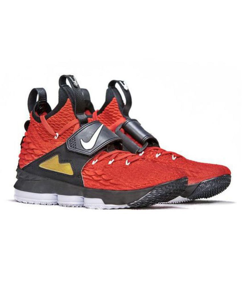 buy online 4be9c f80ce Nike LEBRON 15 DIAMOND TURF Red Basketball Shoes