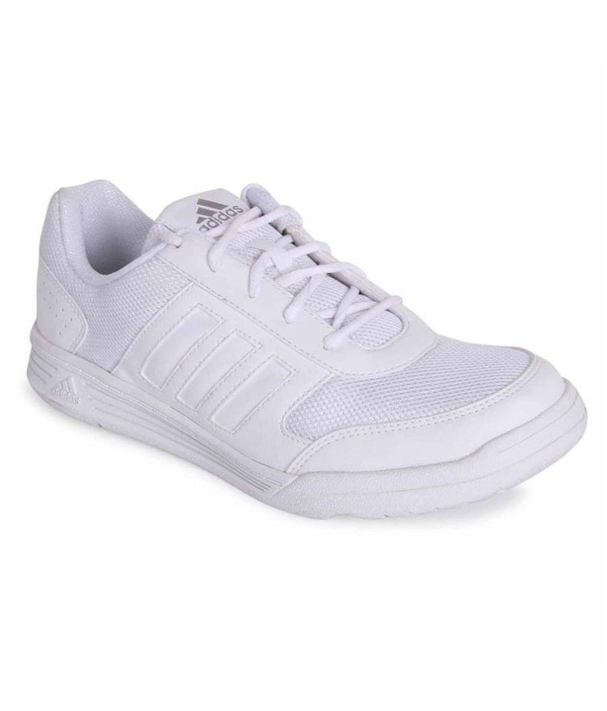 Adidas White School Shoes with Laces Price in India- Buy Adidas ...