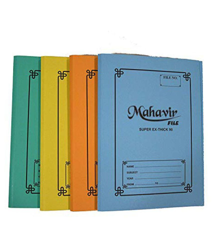 MAHAVIR Cobra Paper Files,Organizer Report,F/S Size Spring,Heavy Duty,Ring Binder Folder Office Clip Paper File 90 LBS Thick Cobra Office Clip File Pack of 12