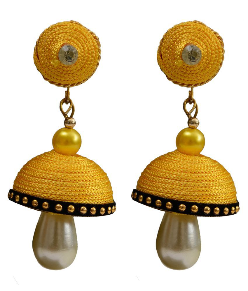 Taj Pearl Designer Jhumki earrings