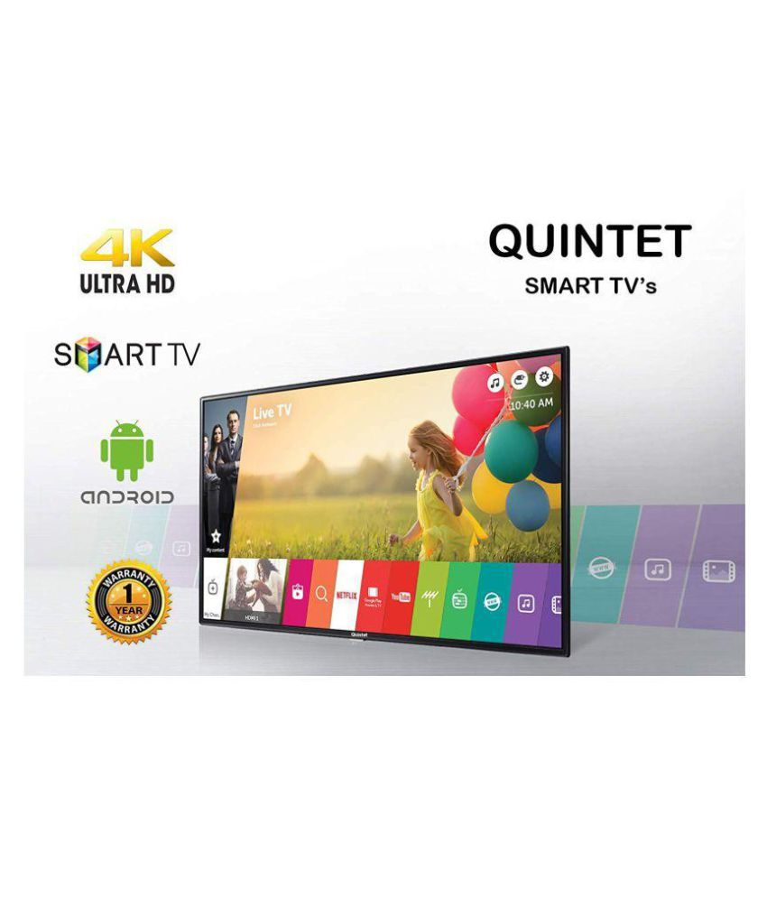 Quintet Q55S 140 cm ( 55 ) Smart Android Ultra HD (4K) LED Television