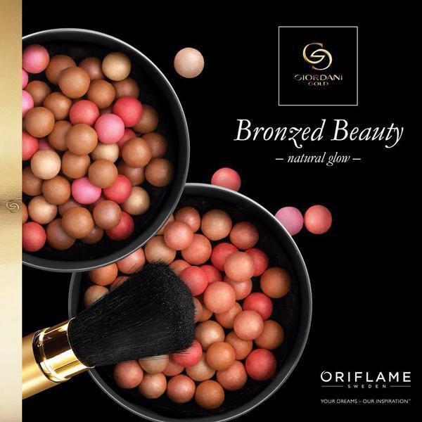 oriflame giordani gold bronzing pearls black powder brush loose