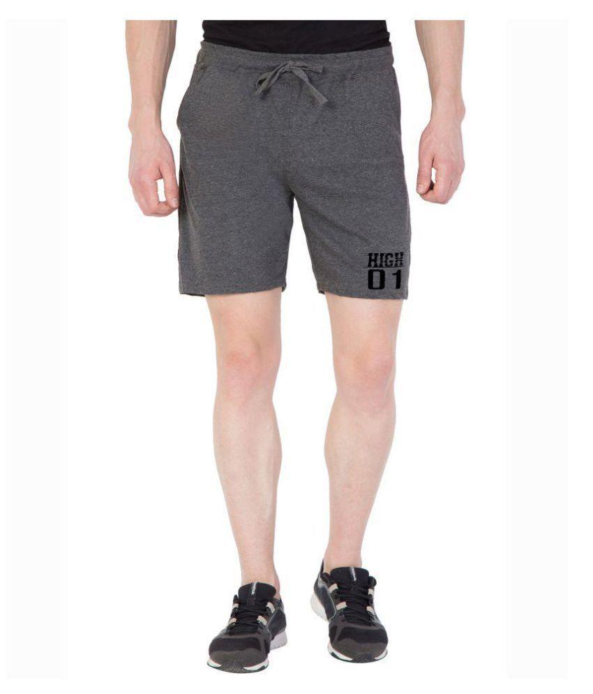 American-Elm Grey Shorts 1