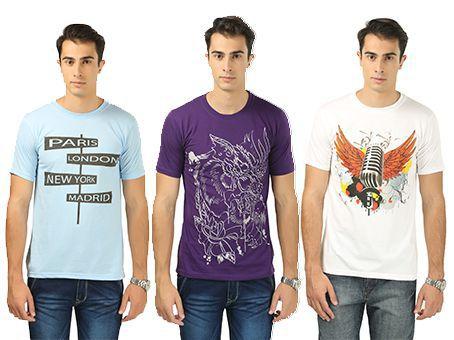 Barevogue Multi Round T-Shirt Pack of 3