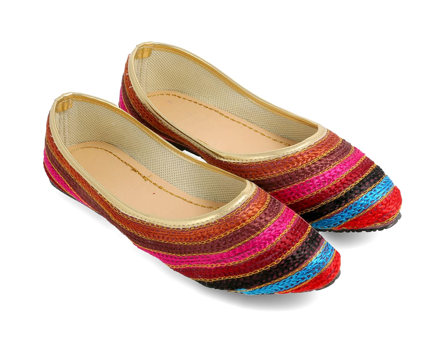 Be You Multi Color Ethnic Footwear