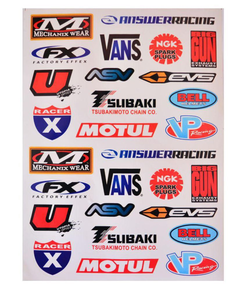 Bike sticker 28 stickers buy bike sticker 28 stickers online at low price in india on snapdeal