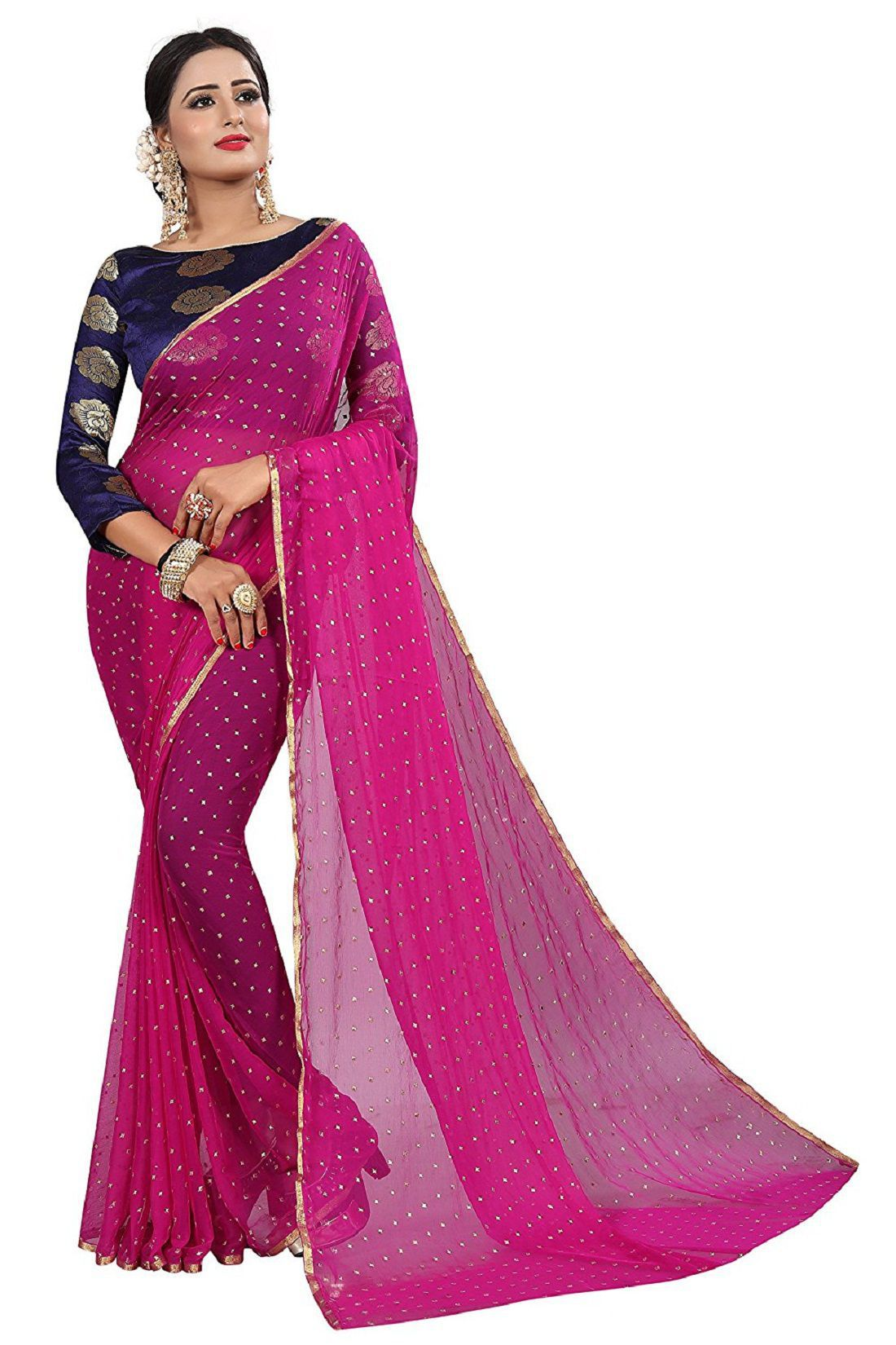 84b478d642 NISHA CREATION Pink and Purple Cotton Silk Saree - Buy NISHA CREATION Pink  and Purple Cotton Silk Saree Online at Low Price - Snapdeal.com