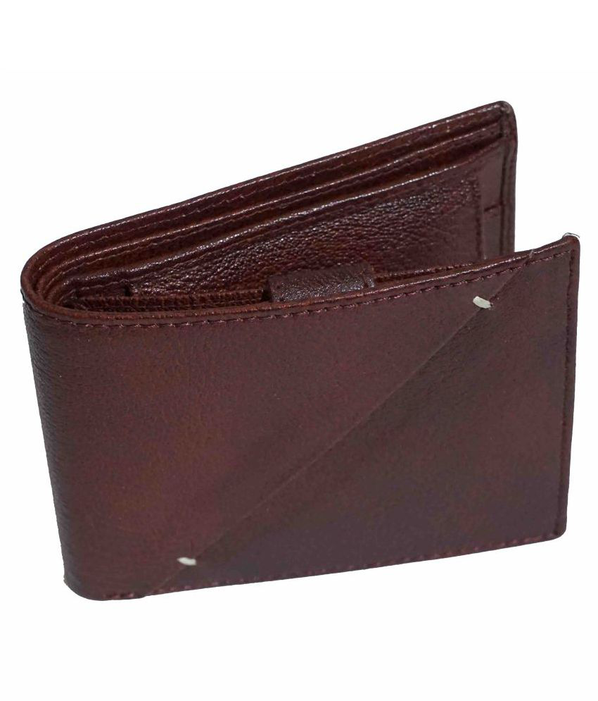 APF COLLECTION Leather Brown Fashion Regular Wallet