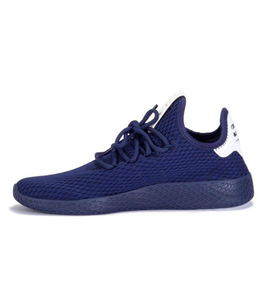 buty na codzień przystępna cena oszczędzać Adidas Pharrell Williams Tennis HU Navy Running Shoes
