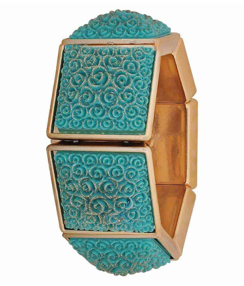 Maayra Blue Party Bracelet Adjustable Stretch Elastic Bracelet for Women