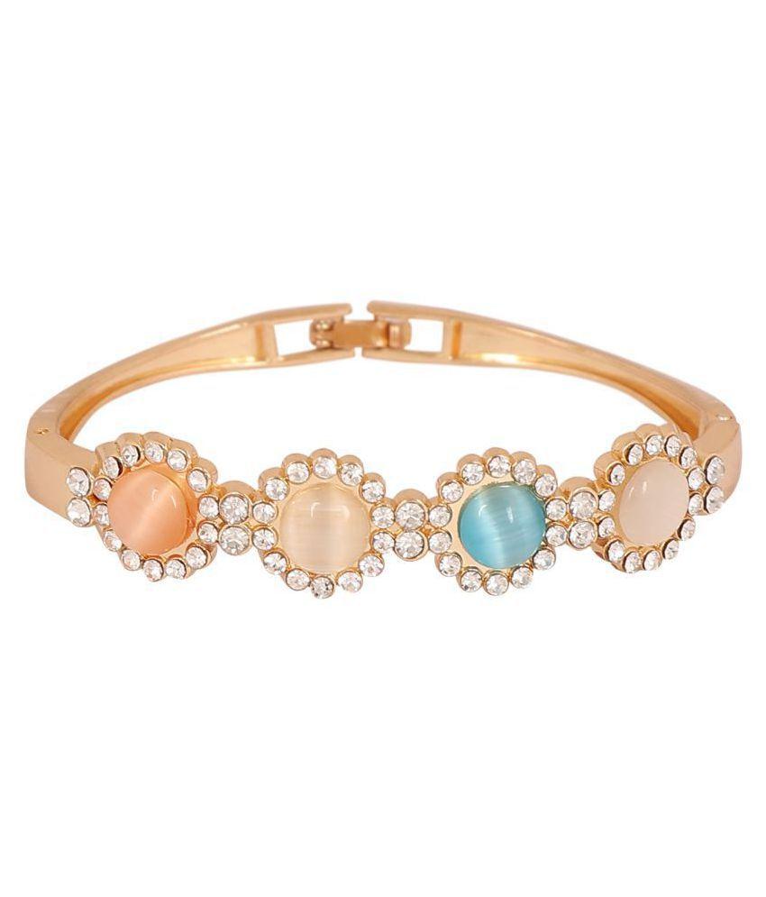 Regalia™ Women's Gold Designer Adjustable Bracelet